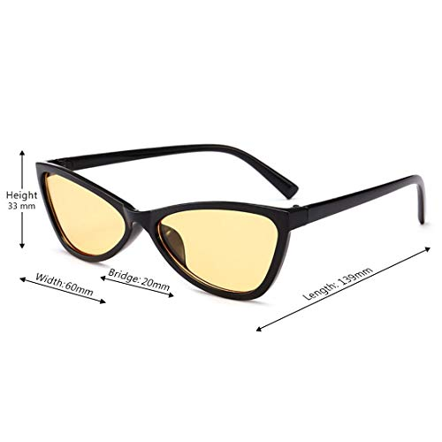 Unisexe Bonbons Sunglasses Frame Couleur Noir Retro De Full Eye Lunettes Aiweijia Cat Femmes Soleil Verres Hinge Translucide HYcqv