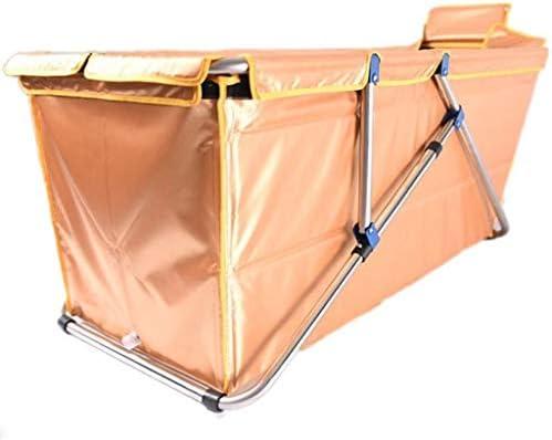 Kylincde 折り畳み式のバスタブ大人の家庭用粘特大のポータブル折りたたみバスタブ絶縁耐久性に優れたイージークリーン子供バスタブ (Color : Orange)