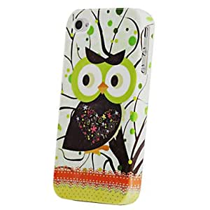 Joyland Sweet Heart Owl Pattern TPU Back Case for iPhone 4/4S