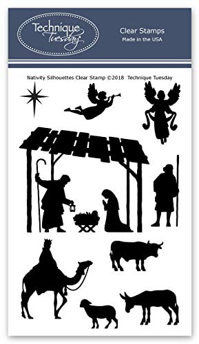 - Nativity Silhouettes Clear Stamps | Christmas Stamps - Photopolymer Stamps | Clear Rubber Stamps | Stamps for Card Making | Stamps Christian