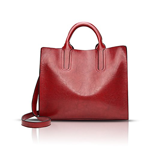 donna borsa Sdinaz Messenger da Nuove Rosso PU moda portafoglio spalla a bag borse retrò YwqBCwt