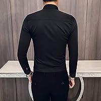 MKDLJY Camisas Camisas Negras Hombre Camisa de Manga Larga Fiesta de la Moda Club Fiesta de Prom Camisa de Esmoquin Camisa Slim fit Casual: Amazon.es: Deportes y aire libre