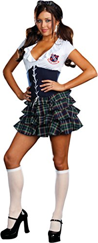 [Dreamgirl Womens Skippin School Naughty Girl Outfit Fancy Dress Sexy Costume, L (10-14)] (Cheap School Girl Costumes)