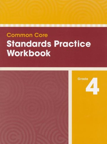 COMMON CORE STANDARDS PRACTICE WORKBOOK GRADE 4