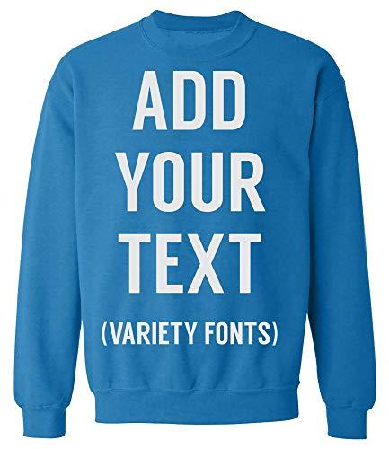(MavenTee Men Women Custom Crewneck Sweatshirt, Add Your Text, Design Your Own )