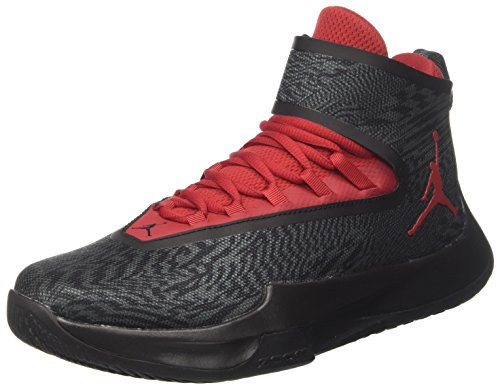 Nike Men Jordan Fly Unlimited Basketball Shoes Grey (Black/Wolf Grey Gym Red-anthracite)