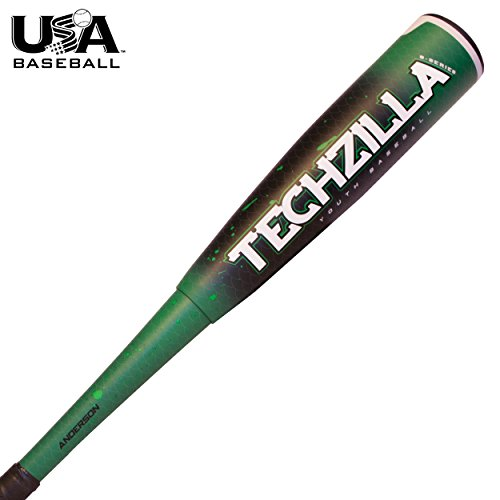 2018 Anderson Techzilla S-Series Hybrid Youth Baseball Bat (USABat) (30 Inch / 21 oz.) (Hybrid Bat Youth Baseball)