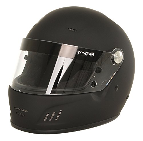Race Helmet Small - Conquer Snell SA2015 Approved Full Face Auto Racing Helmet
