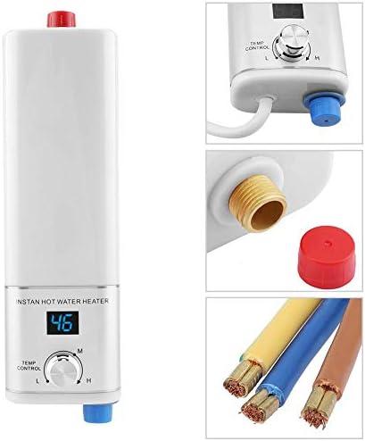 速い熱水、5500W 220Vの小型即刻の熱いスマートな給湯装置の台所浴室のための容易な取付け(#1)