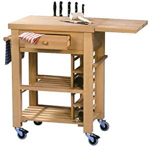 BUTCHERS TROLLEY IN BEECH Size 735x543x890mm: Amazon.co.uk