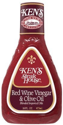 Ken's Red Wine Vinegar & Olive Oil Dressing 16 Oz (Pack of 2)