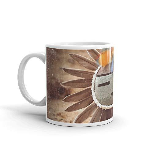 Sun Kachina Mug 11 Oz White Ceramic ()