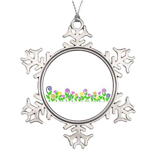 Cheyan Heart Swirl Border S Halloween Funny Snowflake Ornament Ideas for Decorating Christmas Trees Presents -