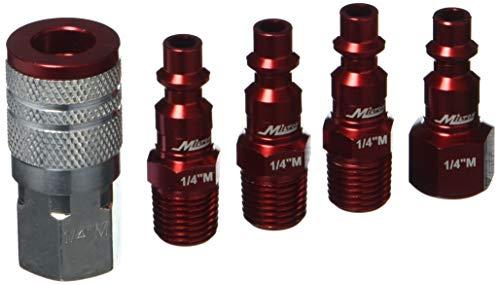 [해외]밀턴 인더스트리 S-305MKIT M 스타일 14\\ / MILTON INDUSTRIES S-305MKIT M-Style 14 NPT Red Coupler & Plug Kit (5 Piece)