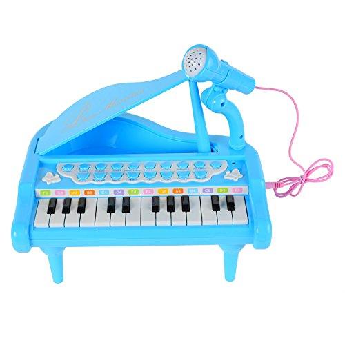 BAOLI 24 Keys Mini Piano keyboard Multifunctional Musical Instruments for Little Girls and Boys - Blue