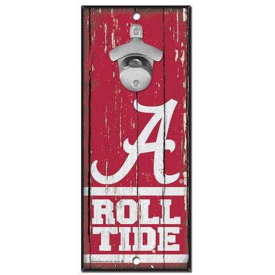 (University of Alabama Wooden Wall Mounted Bottle)