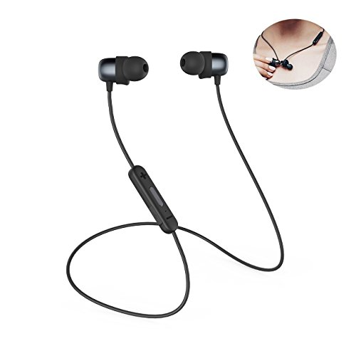 Bluetooth Headphones Sports Wireless Earbuds Sweatproof Headset Magnetic attraction Stereo Earphones for Running Workout Gym Noise Cancelling Proshine(Black)