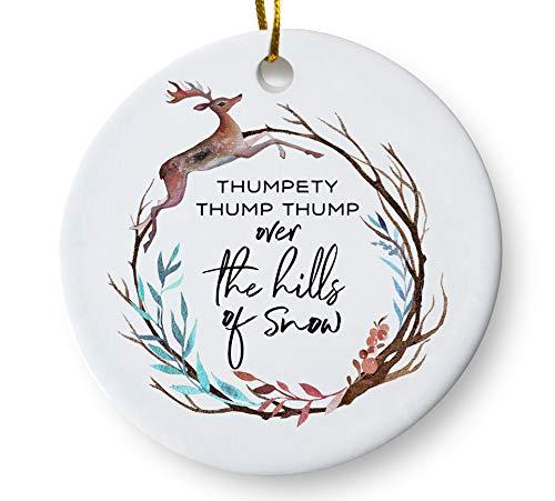 Amazon Com Whimsical Woodland Winter Season Christmas Tree Ornament