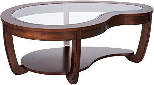 24/7 Shop at Home 247SHOPATHOME IDF-4336C Coffee-Tables, Brown (Oval Cherry Coffee Table)
