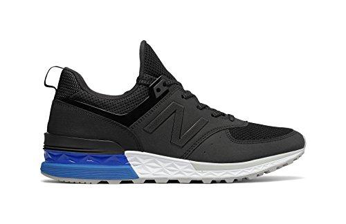 New Balance Men's 574S Sport Sneaker,Black/Blue,11.5 D US