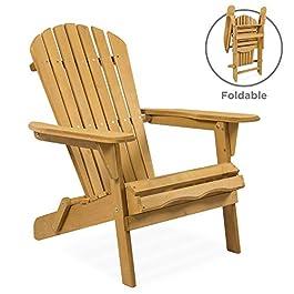 Best Choice Products Folding Wood Adirondack Loung...