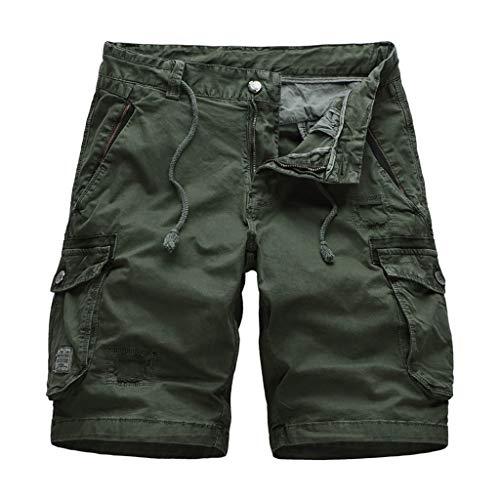 - perfectCOCO Men Cool Summer Belted Cotton Casual Short Pants Camo Clothing Cargo Short-Reg