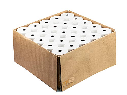 Thermal King, Point-of-Sale Thermal Paper Rolls fits Clover Station POS System, 3 1/8