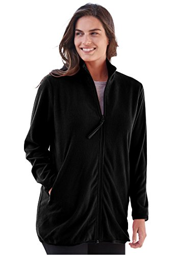Women's Plus Size Cozy Zip-Front Jacket In Anti-Pilling Fleece ()