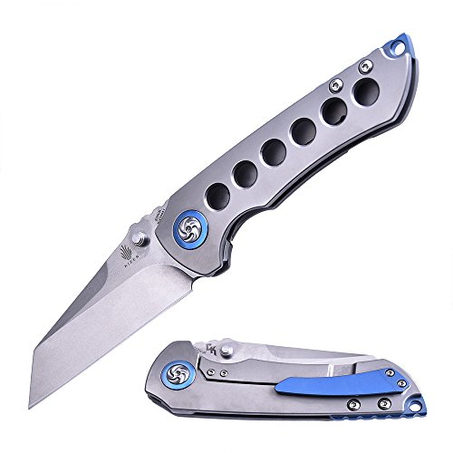 Kizer Cutlery Folding Pocket Knives with Thumb Studs,Titanium Handles EDC Knife,Kizer Critical Matthew Christensen Ki4508A1 by KIZER (Image #6)