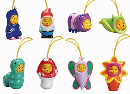 9fd1f48e3ff2 Amazon.com  Disney Winnie the Pooh - Peek a Pooh Garden Series Set of 8 --  Cell Phone Charms - Vending Machine Toys  Everything Else