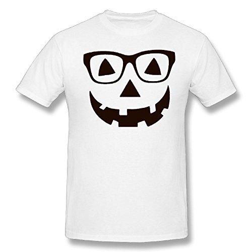 Grudjj Man's Jack O Lantern Pumpkin Face - Easy Halloween Costume Women Adult Short-Sleeved T-Shirt 5X-Large