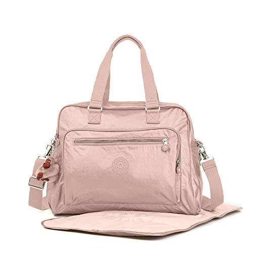 Kipling Alanna Metallic Diaper Bag One Size Rose Gold Metall