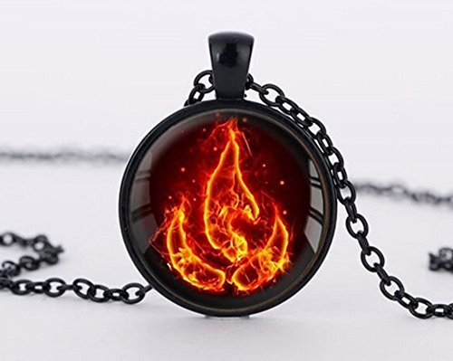 Avatar the Last Airbender Fire Nation Necklace Jewelry Glass Pendant Fashion Necklaces
