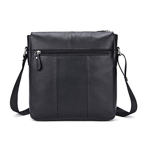 Pelle color Black Black Uomo Valigetta Da Lavoro A Per Tracolla Lieyliso Borsa Vintage Messenger In 4O67Cn8