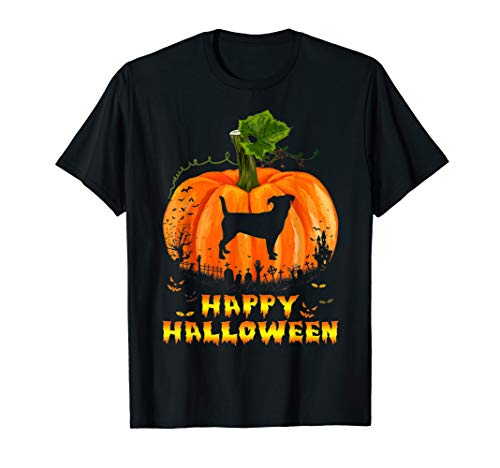 Funny Happy Halloween Jack Russell Dog Pumpkin T-Shirt