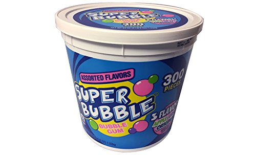 - Super Bubble Gum, Assorted, 54 Ounce Tub