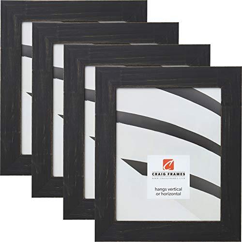 Craig Frames Jasper, 8 x 10 Inch Picture Frame, Country Charcoal Black, Set of - Inch Jasper 10