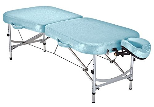 STRONGLITE Portable Massage Table Package PRIMA – Especially Lightweight Aluminum, Unique Tapered Design, Face Cradle, Pillow Carry Case Only 28lbs