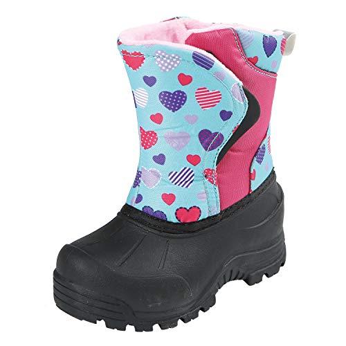 (Northside Boys' FLURRIE Snow Boot, Fuchsia/Aqua, 10 Medium US Toddler)