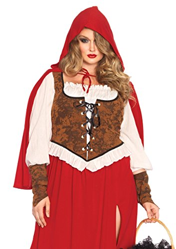 Size 3x Costumes Plus (Leg Avenue Women's Plus-Size Woodland Red Riding Hood Costume, Red,)