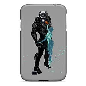 Samsung Galaxy S4 AsV15975ppLM Allow Personal Design Vivid Halo 4 Master Chief And Cortana Image Best Hard Cell-phone Case -NataliaKrause