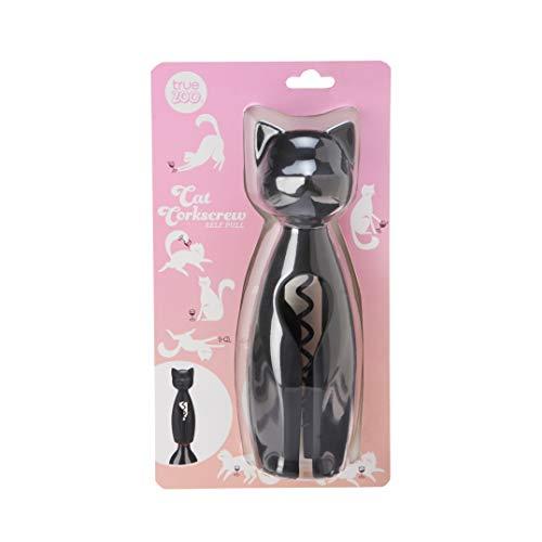 TrueZoo 8236 Cat Self Pull Corkscrew One Size Black