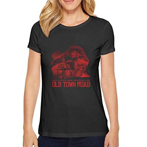 Sounthhery Women's Tee Lil-NAS-X-&-Billy-Ray-Cyrus-Old-Town-Road- T-Shirt (T-shirt Billy Ray Cyrus)
