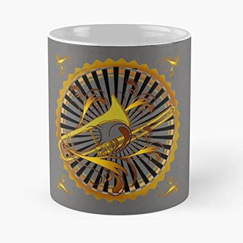 Trombone Tea, Coffee Mugs Funny Girf For Holiday.