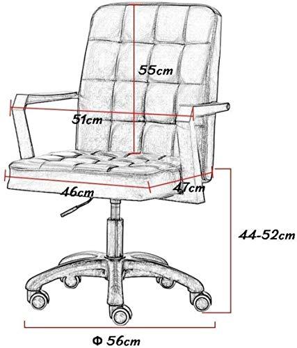 Medium rygg falskt läder fåtölj justerbar dator skrivbordsstol, svängbar stol stål ben hem kontor studierum knästol