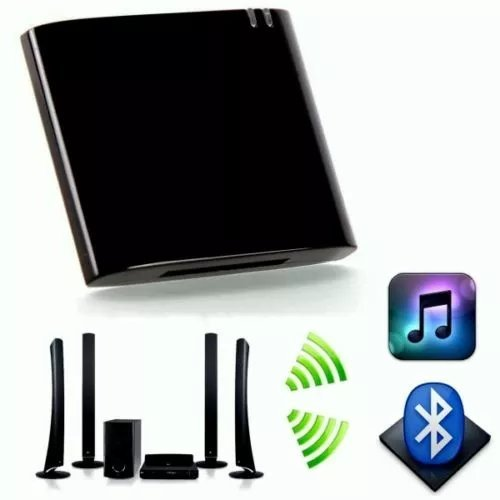 KingFurt Bluetooth A2DP Audio Music Receiver Bluetooth Adapter for Bose Sounddock and 30Pin iPhone iPod Dock Speaker Black