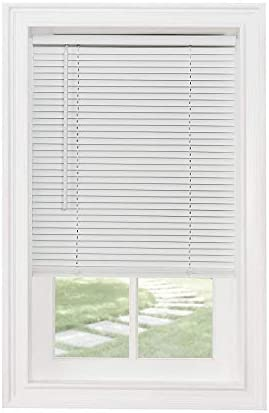 Classic Touch Cordless 1 Light Filtering Mini Blind, 19 Wide x 64 Long, White