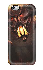 New Style Hot Fashion Design Case Cover For Iphone 6 Plus Protective Case (beast On Fire)