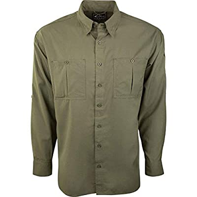 Drake Flyweight Shirt With Vented Back DS7001 Bright Green Long Sleeve