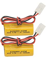 GLESOURCE 1.2V 1500mAh Emergency Lighting Replacement Battery - Replaces T&B 012745, 12745, Interstate - NIC1056, Teig - 850069,CUSTOM-85,OSA117(2 Pack)